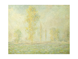 The Prairie in Giverny Prints by Claude Monet