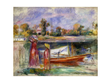 Young Girls in Argenteuil Giclée-trykk av Pierre-Auguste Renoir