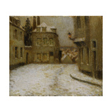Snow, Montmartre Giclee Print by Henri		 Le Sidaner