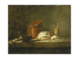 Beets, a Spice Box, a Dishcloth, a Pot, a Glazed Earthenware Plate, a Skimmer, with Meat on a Hook Giclee Print by Jean-Simeon		 Chardin