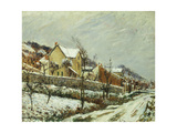 Village in the Snow Giclee Print by Gustave		 Loiseau