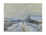 Effet de Neige a Tournedos Láminas por Gustave Loiseau