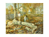 Woodcutters (The Old Elm) Posters by Childe Hassam