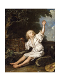 A Boy with an Empty Birdcage Giclee Print by Jean-Baptiste		 Charpentier