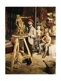El estudio del artista Lámina giclée por G. Combier