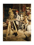 The Artist's Studio Giclee Print by G. Combier