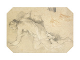 A Nude Young Woman Giclee Print by Charles-Joseph		 Natoire