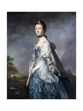 Portrait of Anne, Countess Winterton, Wearing a Blue Dress, and Lace-Trimmed Shawl Posters by Sir Joshua Reynolds
