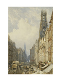 Fleet Street Looking up to Temple Bar with Old St. Dunstans, and St. Clement Danes Prints by George Sidney		 Shepherd