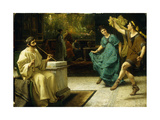Une Entree de Theatre Roman Art by Sir Lawrence		 Alma-Tadema