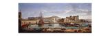 The Darsena, Naples Premium Giclee Print by Wittel Gaspar