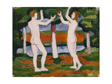 Adam and Eve Prints by Auguste Macke