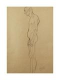 Nude Man Posters by Gustav Klimt