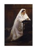 The Communion Print by Jean-Denis-Antoine Caucannier