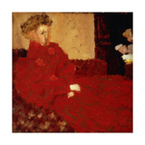 Woman in Red, Sitting Giclee Print by Edouard		 Vuillard