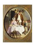 Family Accounts Lámina giclée por George Elgar Hicks