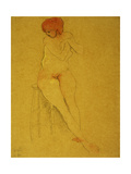Seated Nude Giclee Print by Charles Demuth