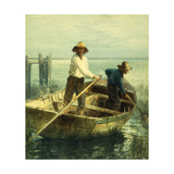 Pushing Off Giclee Print by Edward		 Moran