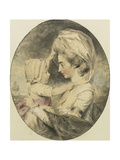 Portrait of Mrs. Hartop and Her Child Giclee Print by John		 Downman