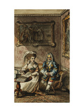 Uncle Toby and Widow Wadman, an Illustration from Tristram Shandy Giclee Print by John		 Nixon