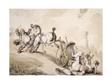 Balloon Hunting Near Lady James's Folly Giclee Print by Thomas		 Rowlandson