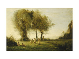 Circle of Love, Sunrise Posters by Jean-Baptiste-Camille Corot