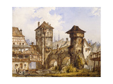 A View of Nurnberg Prints by Angelo		 Quaglio