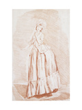A Standing Lady Giclee Print by Louis Rolland Trinquesse