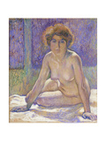 Femme Nue Assise Prints by Theo Rysselberghe