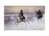 Napoleon at the Head of a Troop of Cavalry Giclee Print by Jan		 Chelminski