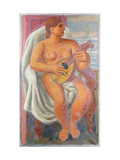 Musical Bather Giclee Print by Mark		 Gertler
