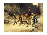 The Tiger Hunt Giclee Print by Ernst Rudolphe