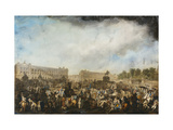 The Return of Louis XVI to Paris, 6 October 1789 Giclee Print by (attributed to) Robert Dighton