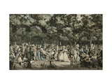The Public Promenade Giclee Print by Philibert Louis		 Debucourt
