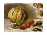 Still Life with Melon and Tomatoes Prints by Pierre-Auguste		 Renoir