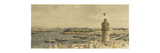 A View of Constantinople from Marmarameer Premium Giclee Print by Michael Zeno		 Diemer