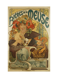 Meuse Beer Prints by Alphonse Mucha
