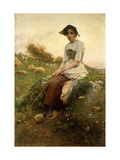 The Shepherdess Giclee Print by Henri Paul		 Perrault