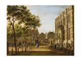 The Hague: the Mauritspoort and the Binnenhof Seen Across the Plein Prints by Paulus Constantin La Fargue