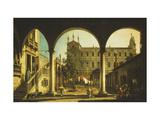 A Capriccio of the Scuola di San Marco, Venice, from the Palazzo Grifalconi-Loredan Print