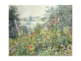 Flowers at Vetheuil Giclee Print by Claude Monet