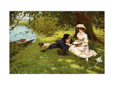 Afternoon Pastimes Giclee Print by Edward R. King