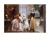 A Parting Kiss Giclee Print by Joseph		 Caraud