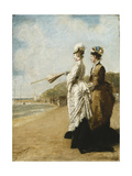 On the Beach at Trouville Posters by Charles Francois		 Pecrus
