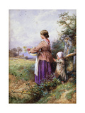 Returning Home Giclee Print by Myles Birket		 Foster