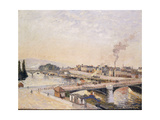 Sunrise over Rouen Posters by Camille Pissarro