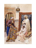 The Carpet Seller Giclee Print by Giulio		 Rosati