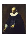 Portrait of a Gentleman, wearing a Black Costume with White Collar and Cuffs Giclee Print by (school of) Sir Anthony Dyck