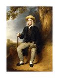 Portrait of Jeremy Bentham (1742-1832), in a blue jacket, black waistcoat and white shirt Giclee Print by George Frederic		 Watts