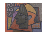 Design with Benin Head Giclee Print by Mark		 Gertler
